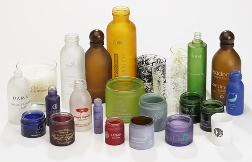 coloured glass bottle printing
